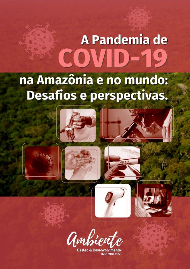 """Capa de """"Dossiê - A pandemia de COVID-19 na Amazônia e no Mundo: Desafios e Perspectivas"""""""