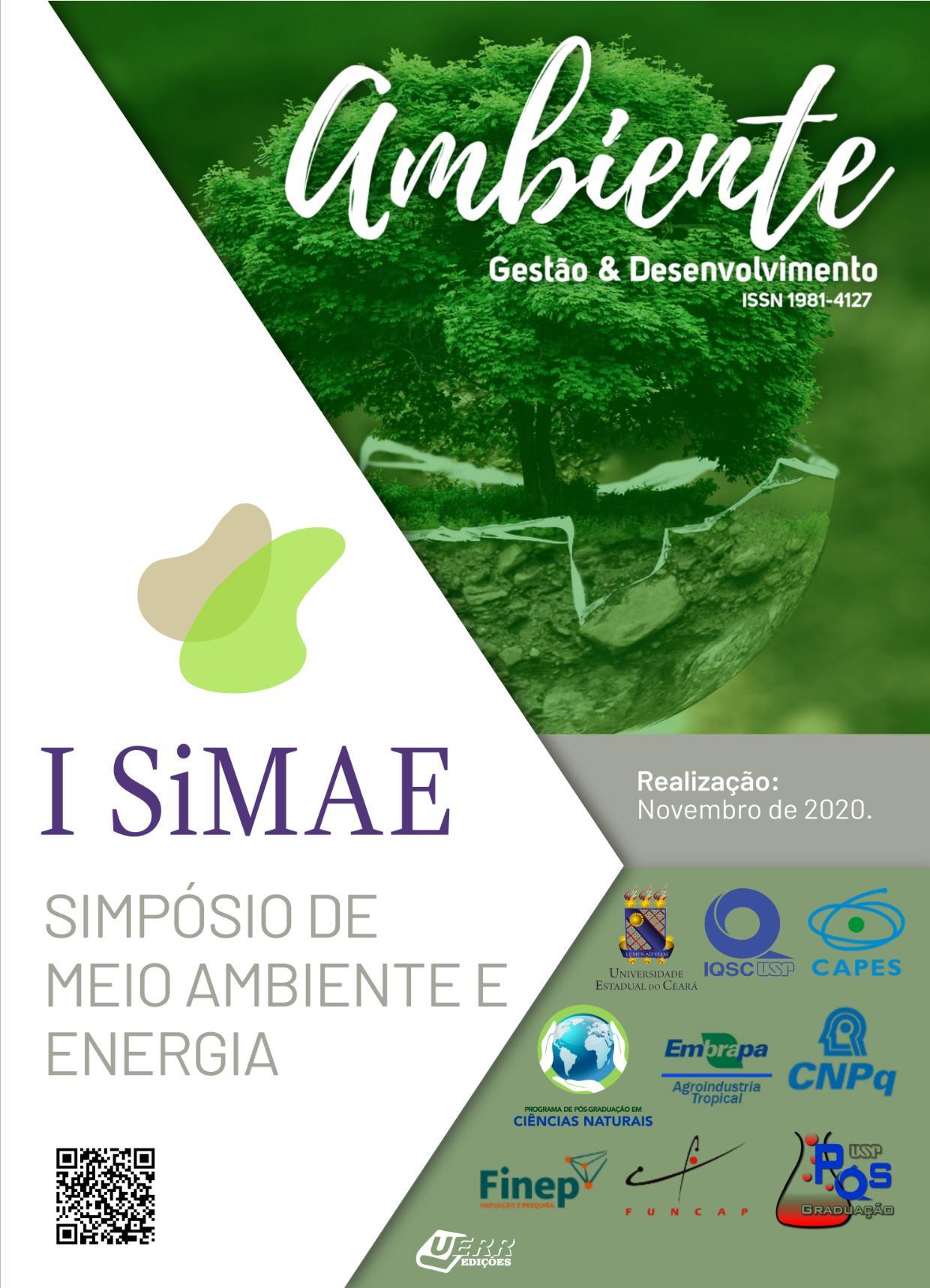 Visualizar 2021: Dossiê: I Simpósio de Meio Ambiente e Energia (SiMAE)